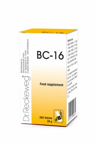 Schuessler BC16 combination cell salt - tissue salt